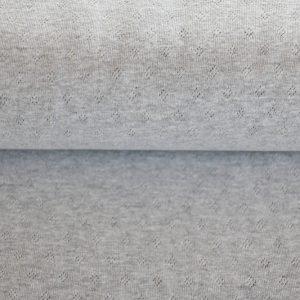 feiner Pointoille Jersey mit Lochmuster in grau