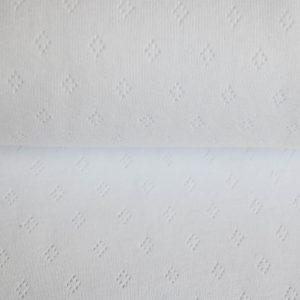 feiner Pointoille Jersey mit Lochmuster in weiß