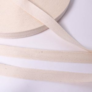 BW Köperband/ Webband/ Flachkordel 15mm breit in ecru