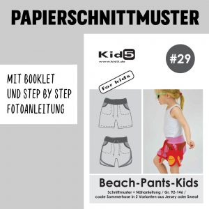 #29 Papierschnittmuster Beach-Pants-Kids