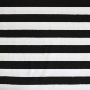 """Jersey """"Maxi-Streifen"""" schwarz/ weiß"""