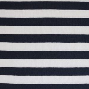 """Jersey """"Maxi-Streifen"""" marine/ weiß"""