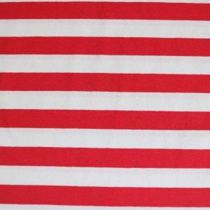 """Jersey """"Maxi-Streifen"""" rot/ weiß"""