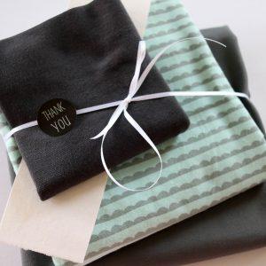 "Stoff-Paket ""Waves mint/anthra"" +SnapPap"