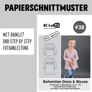#38PP Papierschnitt Bohemian-Dress and Blouse Girls