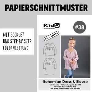 #38 Papierschnitt Bohemian-Dress and Blouse Girls