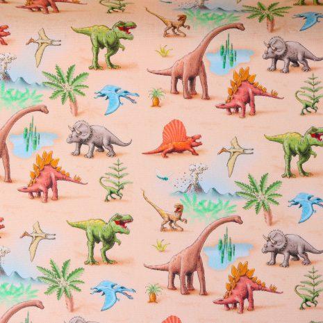 """Beschichtete Baumwolle/ Wachstuch """"Dinosaurier"""" – Kid5"""
