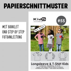 #55PP Papierschnitt Longsleeve and T-Shirt + Booklet