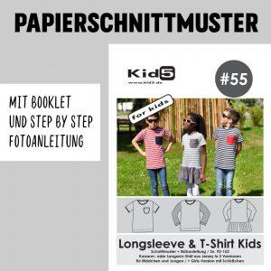 #55PP Papierschnitt Longsleeve and T-Shirt + Booklet