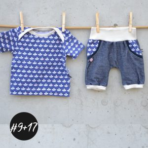 SET #9 #17 Summer-Pants-Baby und Baby-Basic-Shirt  eBook +Video