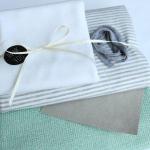 "Stoff-Paket ""Stricksweat mint"" +SnapPap"