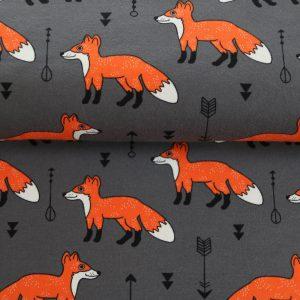 "Jersey ""Fuchs"" grau/ orange"