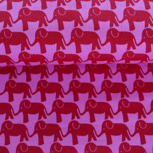"""Jersey """"Elefantenparade"""" pink/ rot"""