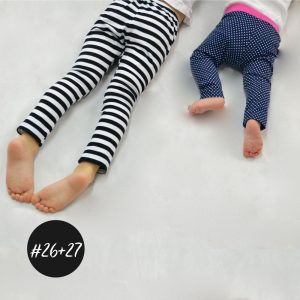 SET #26 #27 Basic Leggings Baby und Kids  eBook +Video