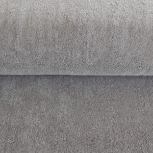 Stretch Frottee in grau soft und kuschelig