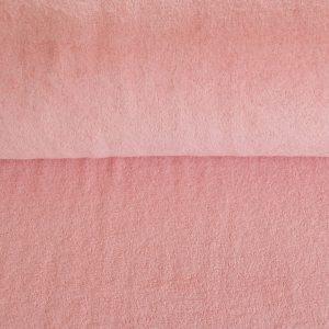 Stretch Frottee in rosa soft und kuschelig