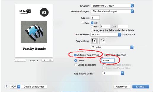 Wie Drucken? / Schnittmuster PDF richtig ausdrucken – Kid5