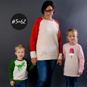 SET #5 #62 Raglan Sweater Women und Kids  eBook +Video