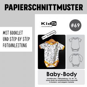 #69PP Papierschnitt Baby-Body + Booklet