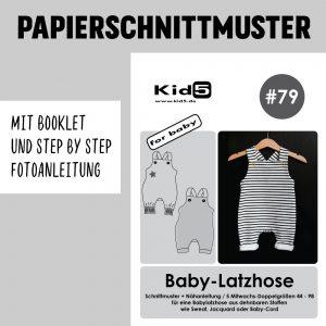 #79PP Papierschnitt Baby-Latzhose + Booklet