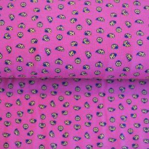 """Restmenge! Jersey """"Marienkäfer""""  in pink/gelb"""