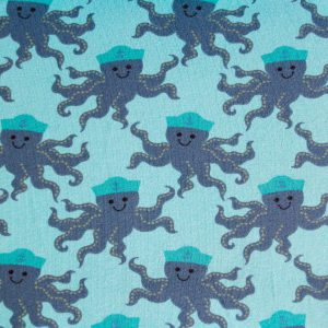"""Restmenge! Jersey """"Oktopuss"""" in mint/türkis/grau"""
