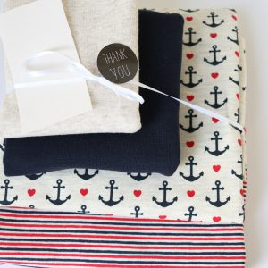 "Stoff-Paket ""lovely anchor  ecru/marine/rot"" +SnapPap"