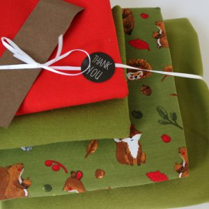 "Stoff-Paket ""Forest animals  moos /rot"" +SnapPap"