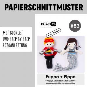 #83PP Papierschnitt Puppa und Pippo + Booklet