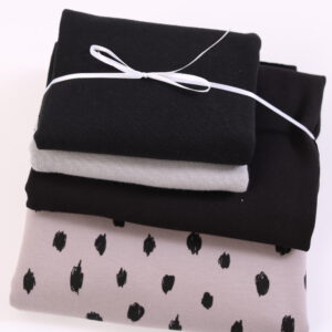 "Stoff-Paket ""black and white""  in grau/schwarz"