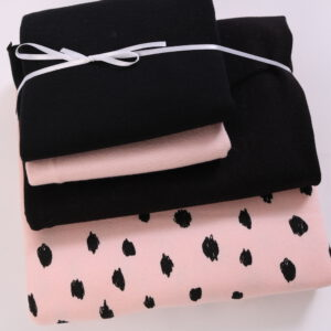"Stoff-Paket ""black and white""  in rose/schwarz"