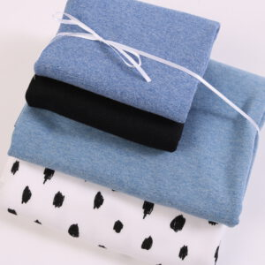 "Stoff-Paket ""black and white + mittelblau """