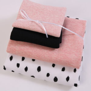 "Stoff-Paket ""black and white + rose """