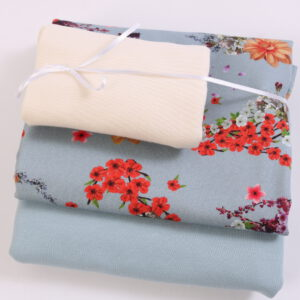 "Stoff-Paket ""Asian Flowers""  in soft blue"