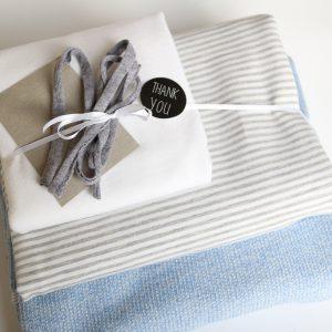 "Stoff-Paket ""Stricksweat blau"" +SnapPap"