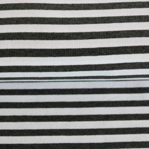 """Sweat """"Streifen"""" in anthrazit-melange/weiß"""