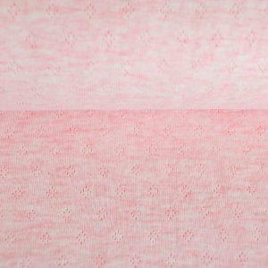 feiner Pointoille Jersey mit Lochmuster in rosé-melange