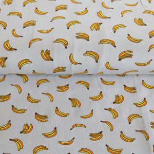 "Jersey ""Yellow Bananas"" in grau/ gelb"