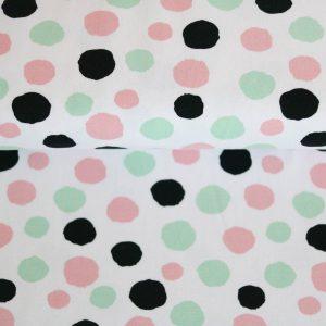 """Jersey """"Dots""""  in weiß/mint/rose/schwarz"""