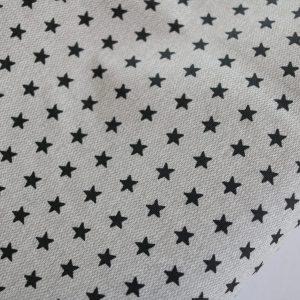"""Beschichtete Baumwolle/ Wachstuch """"Stars"""" grau/schwarz"""