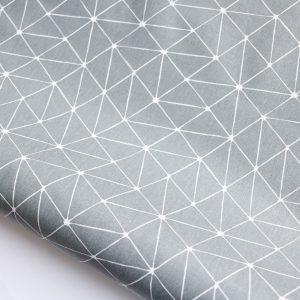 """Beschichtete Baumwolle/ Wachstuch """"geometrisch"""" grau"""