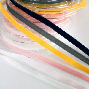 """Samtband, Velvet Ribbon 9 mm   in """"Farbe auswählen"""""""