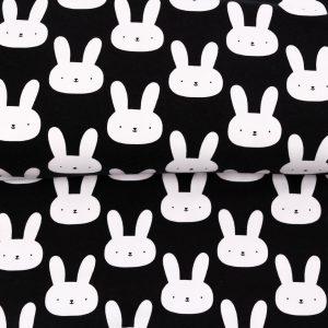 """Jersey """"Honey Bunny"""" schwarz/ weiß"""