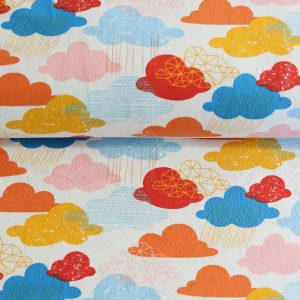 "Jersey ""happy Cloud"" ecru / bunt"