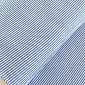 """Feinstrick Bündchen """"mini Ringel"""" mittel-blau/weiß"""