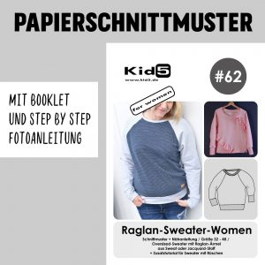 #62PP Papierschnitt Raglan-Sweater-Women + Booklet