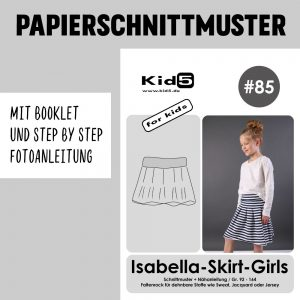 #85PP Papierschnitt Isabella-Skirt Girls + Booklet