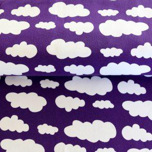 "Jersey ""Wolken"" lila/ weiß"