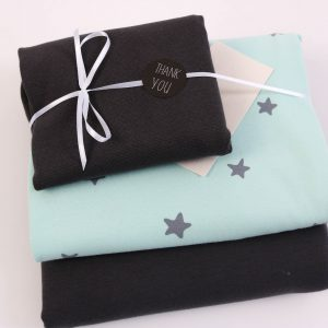 "Stoff-Paket ""Baby-Sterne mint/anthra"" +SnapPap"