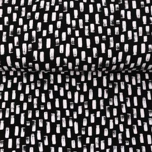 """Jersey """"Pinselstriche"""" in schwarz/weiß"""